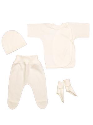 Комплект для маловесных и недоношенных детей MilleFaMille. Цвет: молочный
