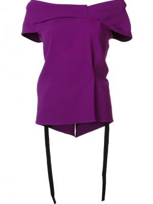 Топ с открытыми плечами Roland Mouret. Цвет: розовый и фиолетовый