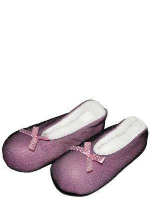 Носки-тапочки HOBBY LINE. Цвет: сиреневый