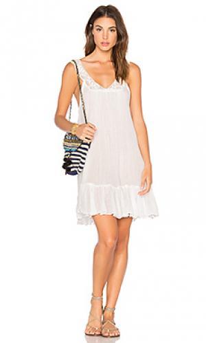 Мини платье ghana Jens Pirate Booty Jen's. Цвет: белый