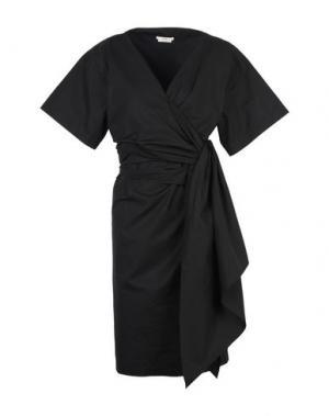 Платье до колена EDUN. Цвет: черный