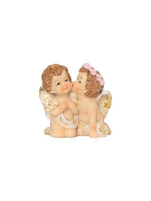 Фигурка декоративная Поцелуй ангелочков Elan Gallery. Цвет: бежевый, белый