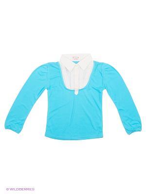 Блузка DAMY-M. Цвет: голубой