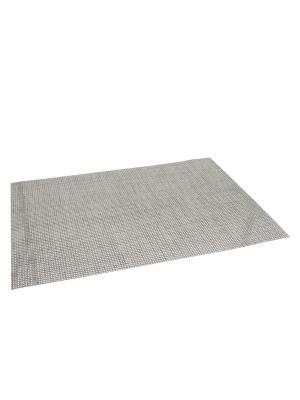Набор из 6-ти салфеток под тарелку прямоугольных 35,5х50 см JJA. Цвет: серый