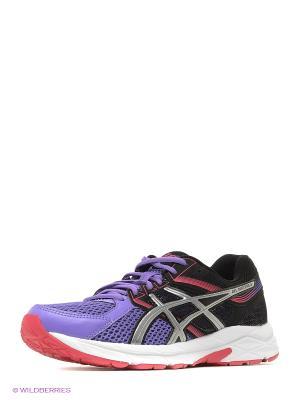 Кроссовки GEL-CONTEND 3 ASICS. Цвет: черный, серебристый, фиолетовый