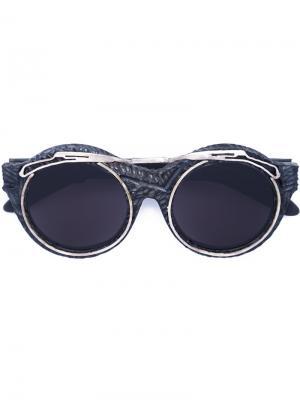 Солнцезащитные очки Mask A2 Kuboraum. Цвет: чёрный