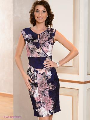 Платье V&V. Цвет: синий, розовый