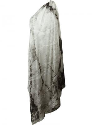 Платье на одно плечо Lost & Found Ria Dunn. Цвет: серый