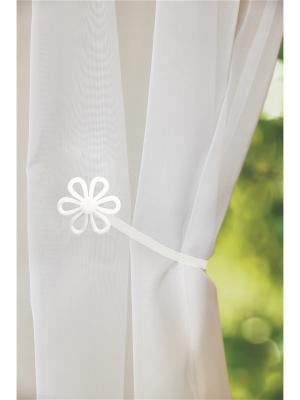 Магнитная клипса с лентой (26 см) Ромашка белая IZKOMODA. Цвет: белый