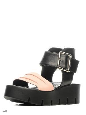 Босоножки Donna Ricco. Цвет: черный, бледно-розовый