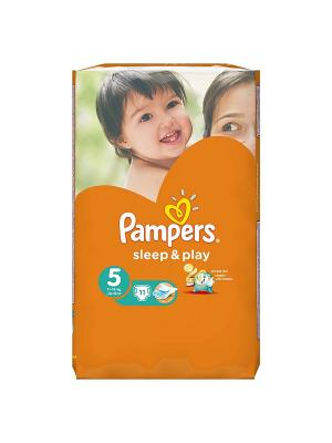 Подгузники Sleep & Play 11-18 кг, 5 размер, 11 шт. Pampers. Цвет: оранжевый