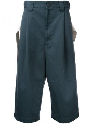 Укороченные широкие брюки Maison Mihara Yasuhiro. Цвет: серый