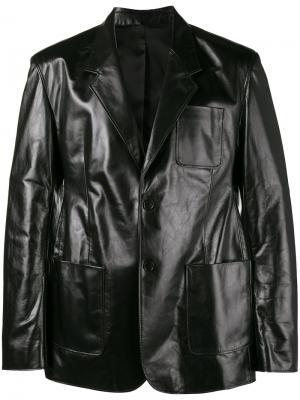 Однобортная куртка Balenciaga. Цвет: чёрный