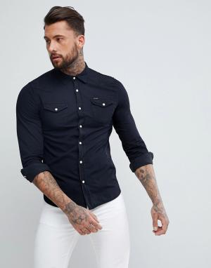 Religion Джинсовая рубашка. Цвет: черный