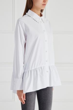 Хлопковая рубашка Mixer. Цвет: белый