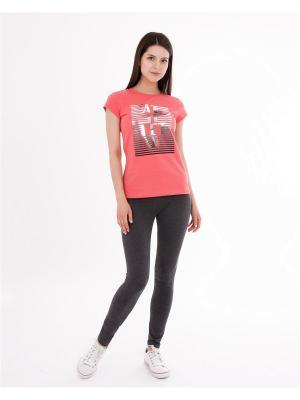 Комплект одежды: футболка, леггинсы Mark Formelle. Цвет: темно-серый, красный, серебристый