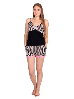 Пижама Startale. Цвет: черный, розовый, темно-синий