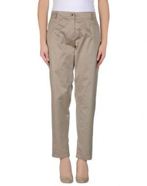 Повседневные брюки DIVINA. Цвет: голубиный серый