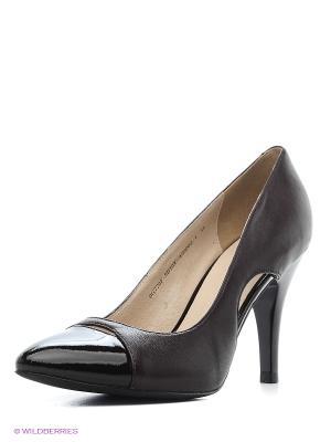 Туфли ANDRE KLEMA. Цвет: темно-коричневый