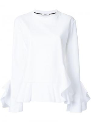 Блузка с оборками Goen.J. Цвет: белый
