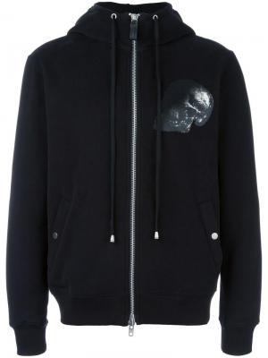 Куртка с капюшоном и принтом черепа Cy Choi. Цвет: чёрный
