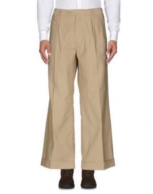 Повседневные брюки TS(S). Цвет: бежевый