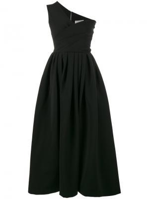 Пышное платье на одно плечо Preen By Thornton Bregazzi. Цвет: чёрный