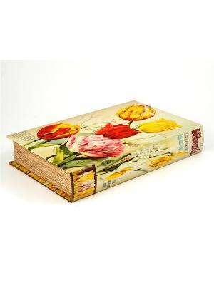 Шкатулка Тюльпан Русские подарки. Цвет: темно-серый