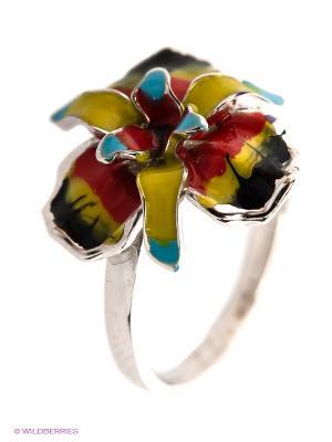 Кольцо Lovely Jewelry. Цвет: черный, серебристый, красный, желтый