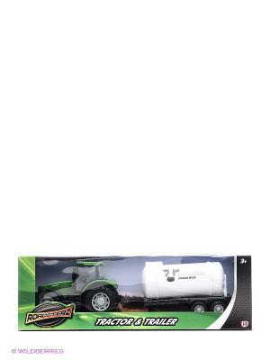 Трактор с бочкой Зеленый HTI. Цвет: зеленый