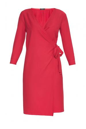 Платье из вискозы BR-181737 Burlo. Цвет: красный