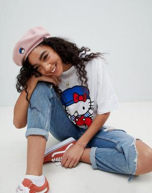 ASOS Берет с вышивкой Hello Kitty x. Цвет: розовый