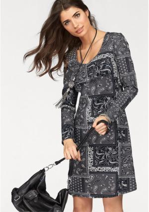 Платье BOYSENS BOYSEN'S. Цвет: серый/с рисунком