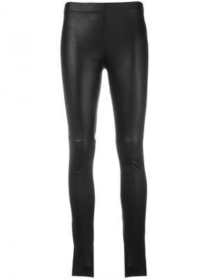 Кожаные брюки Plein Sud. Цвет: чёрный