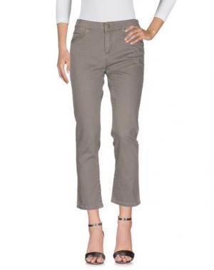 Джинсовые брюки VANESSA BRUNO ATHE'. Цвет: серый