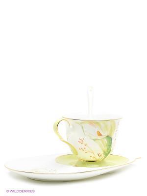 Чайная пара Калла Pavone. Цвет: белый, светло-зеленый