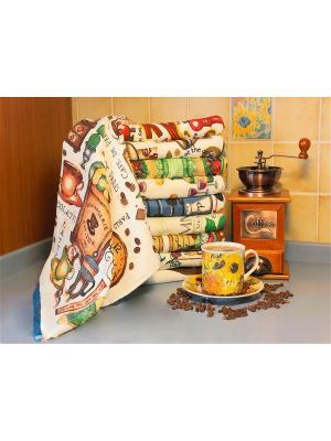 Полотенце для кухни Хлопковый Край. Цвет: бежевый, зеленый, коричневый