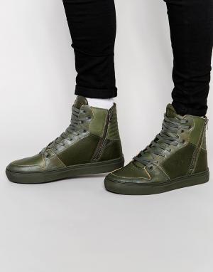 Creative Recreation Высокие кроссовки Adonis. Цвет: зеленый