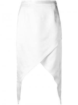 Asymmetric midi skirt Adriana Degreas. Цвет: белый