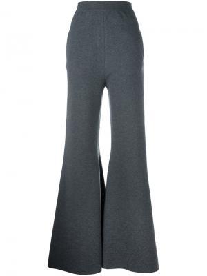 Расклешенные брюки Stella McCartney. Цвет: серый