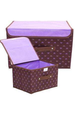 Комплект коробочек д/хранения HOMSU. Цвет: фиолетовый
