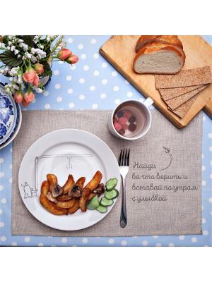 Сюжетная тарелка Кроль у крана Счастье в мелочах. Цвет: белый