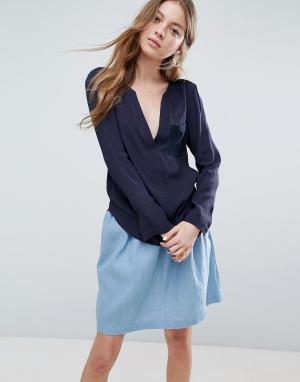 See U Soon Свободная блузка. Цвет: темно-синий