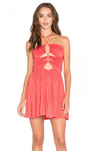 Платье sophia De Lacy. Цвет: коралл
