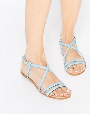 Miista Кожаные сандалии с ремешками Jo. Цвет: синий