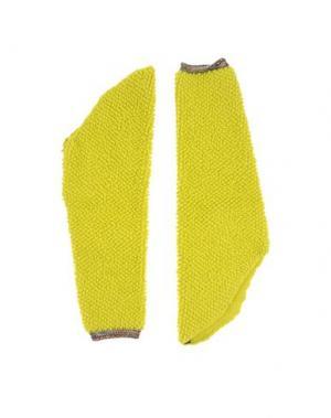 Гетры для рук MAISON MARGIELA. Цвет: желтый
