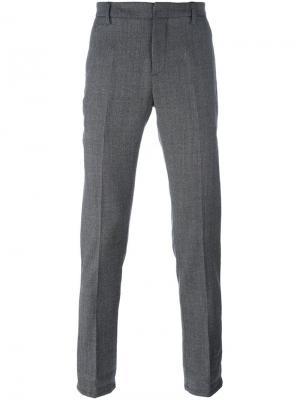 Классические брюки Gaubert Dondup. Цвет: серый