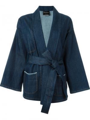 Джинсовая куртка Gagan Erika Cavallini. Цвет: синий