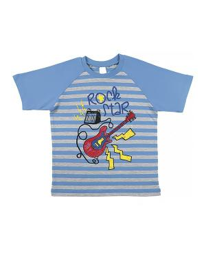 Футболка для мальчика Cherubino. Цвет: голубой