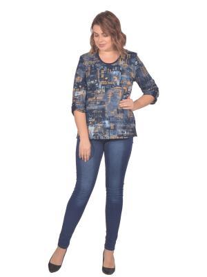 Кофточка Томилочка Мода ТМ. Цвет: синий, бежевый, голубой